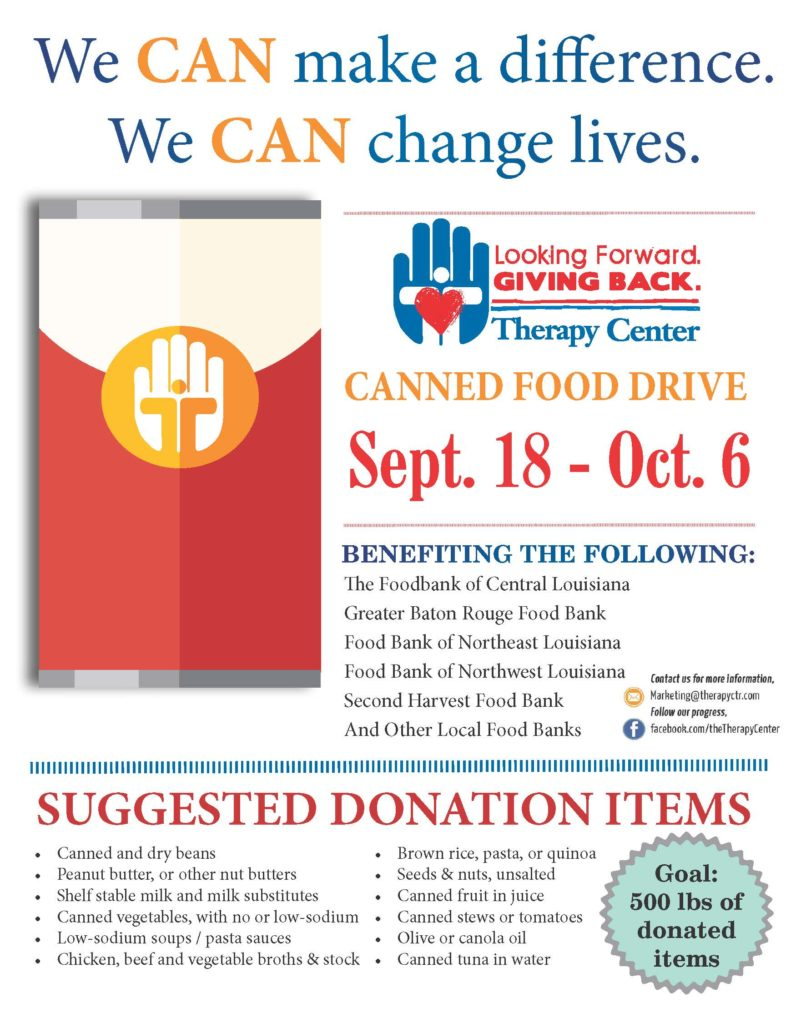 The Therapy Center We Can Make A Difference Canned Food