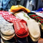 Woolen And Warm Socks At The Riga Christmas Market