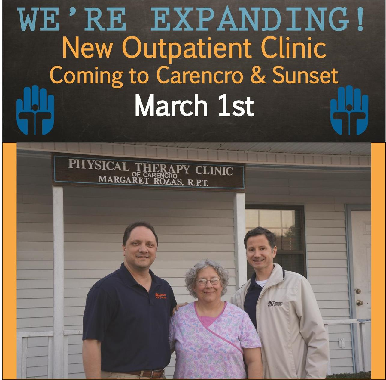 Carencro Sunset Outpatient CLinic Therapy Center